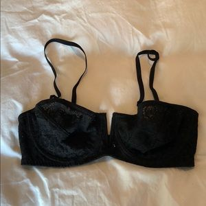 Intimately Free People black lace convertible bra